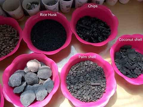 Charcoal samples