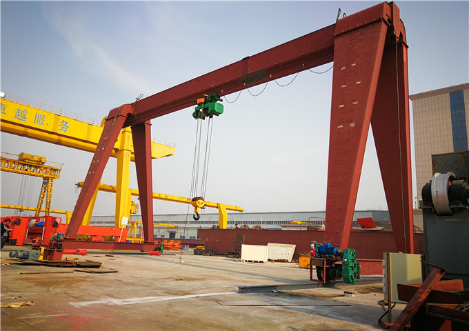 Sale of single-girder gantry crane of 10 tonnes from China