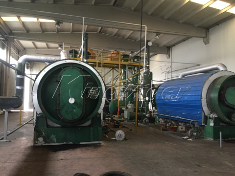 Waste Tyre To Fuel Oil Conversion Machine